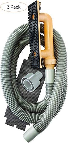 Hyde Tools 09165 Dust-Free Drywall Vacuum Hand Sander with 6-Foot Hose (Three Pack)