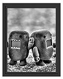 Picati Rawr Monsterpuppen im Schattenfugen Bilderrahmen | Format: 38x30 | Kunstdruck auf hochwertigem Galeriekarton | hochwertige Leinwandbild Alternative