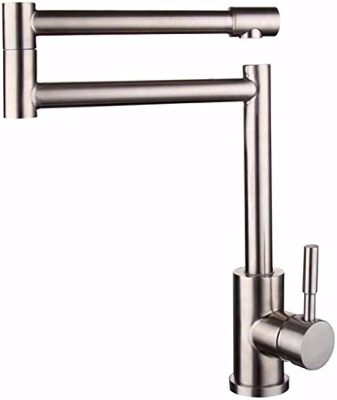MulFaucet wasserhahn armatur hahn Wasserleitung Faucet Küche 304 edelstahl universal rotierende waschbecken hei und kalt falten 360 umdrehung