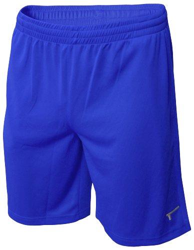 TREN Herren COOL Polyester Mesh Performance Short Sporthose mit Seitentaschen Royalblau 440 - L