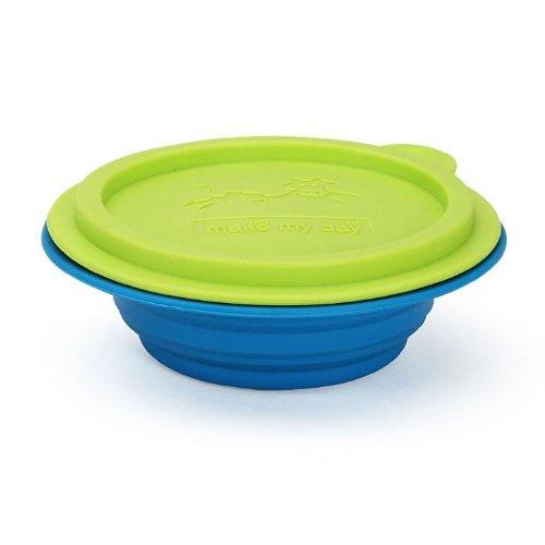 Make My Day All Gone - Ciotola pieghevole, colore: blu e verde