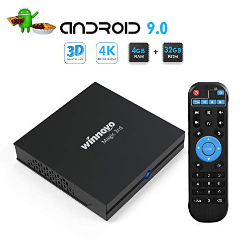Android 9.0 TV Box - Winnovo Magic 3rd Android TV Box RK3318 Quad Core 4GB DDR3 32GB EMMC WiFi Bluetooth 3D 4K Ultra HD HDMI RJ45 USB Host