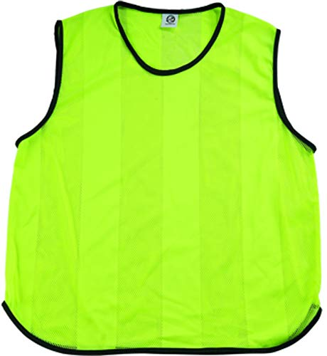 Ronex Sports Petos de Entrenamiento para fútbol - Adultos - Pack de x10 (Fluorescente Verde, Adulto)
