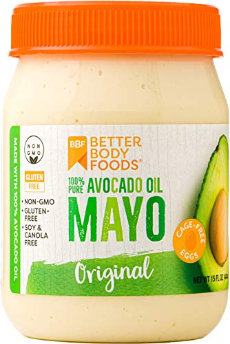 BetterBody Foods Avocado Oil Mayonnaise, Non-GMO Mayo Spread Made with Cage-Free Eggs, Paleo (15 Ounces)