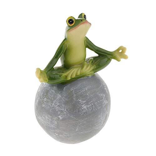 P Prettyia Garten Froschdeko Gartenzwerg Figuren Dekoration Froschfigur für den Schreibtisch/Computer - A-Yoga