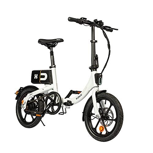Home Deluxe - klappbares E-Bike BUMBEE - Farbe: weiß - inkl. abnehmbare Batterie - Ladezustandsanzeige I Citybike Elektrofahrrad Klapprad Faltrad