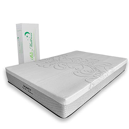 Colchón Memory Foam con Gel Bio Mattress | Modelo Gravity King Size | Espumas con certificación CertiPur | Entrega en caja con 5 Años de Garantía