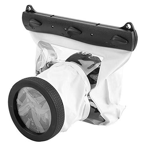 Bolsa de Dving para cámara, Funda Impermeable para fotografía submarina Bolsa de Dving Universal hasta 20 Metros 100% sellada, para la mayoría de Las cámaras DSLR(Blanco)