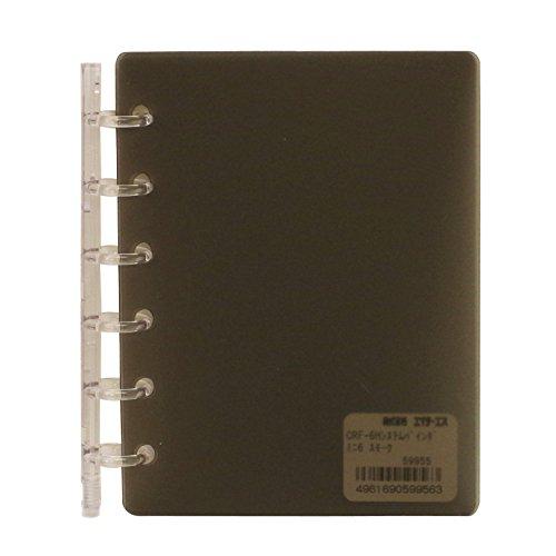 ミニ6穴 CRF-6H システムバインダー(システム手帳バインダー)【スモーク】 HS59955スモ