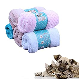 chunnron Puppy Blanket Dog Mat Cat Beds Soft Blanket Dog Crate Bed Dog Bedding Thick Pet Blanket Fluffy Cat Mat Kitten Bed Warm Dog Blanket Fluffy Blanket
