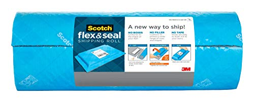 Scotch Flex and Seal Shipping Roll 10 ft x 15 in, Eliminates Time, Supplies, Waste & Space vs. Boxes, Easy Packaging Alternative to Poly Mailers, Shipping Bags, Bubble Mailers, Padded Envelopes, Boxes