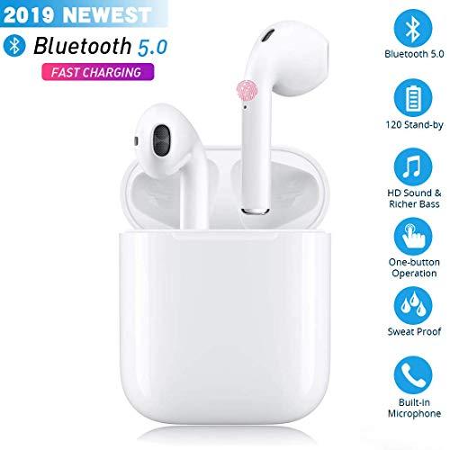 Bluetooth-Kopfhörer,kabellose Touch-Kopfhörer HiFi-Kopfhörer In-Ear-Kopfhörer Rauschunterdrückungskopfhörer,Tragbare Sport-Bluetooth-Funkkopfhörer,Für Apple Airpods Android/iPhone/Samsung/AirPods Pro
