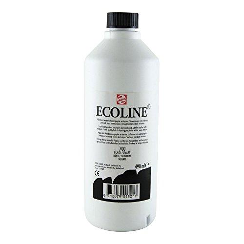 Royal Talens Ecoline Liquid Watercolor, 490ml Bottle, Black (11727000)