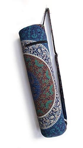 Sac de transport avec bandoulière pour tapis de yoga et de yoga, Bleu 6 kaam, FULL