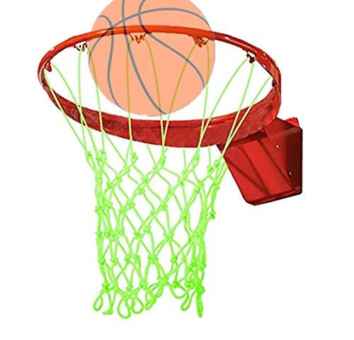 N/K Leuchtendes Basketball Netz ,Standard Professionelles Fluoreszierendes Basketballnetz, Nylon Gewebtes NäChtliches Visuelles Basketballnetz 2 StüCk 45CM