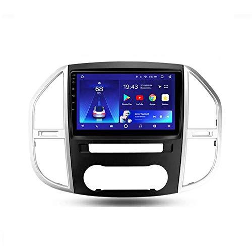 Android 10.0 Car Stereo Double Din Compatible con Mercedes Benz Vito 3 W447 2014-2020 Navegación GPS Unidad principal de 9 pulgadas Reproductor multimedia MP5 Receptor de video y radio con 4G WIFI DS