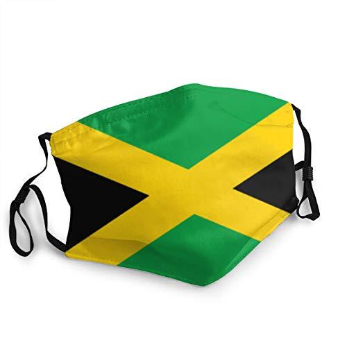 momnn Jamaica Flag Staubdichte winddichte Gesichtsmaske, wiederverwendbares, waschbares Tuch, Gesichtsabdeckung, Abdeckung für Staub Männer Frauen