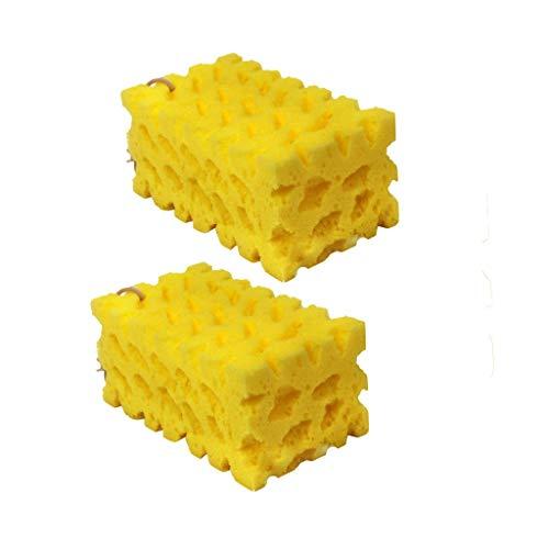 JKRTR Möbelzubehör 2019,2PC Extra großer Auto-Waschschwamm Coral Sponge Washing Reinigungsblock Honeycomb(Gelb,6.7x4x2.9inch)