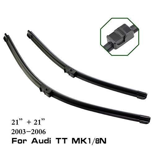 WOLDce LHD Car Front Window Windshield Wiper Blades,for Audi TT MK1/MK1 8N/MK2/MK3 1998 to 2017 Push Button/Hook/Pinch Tab/Side Pin
