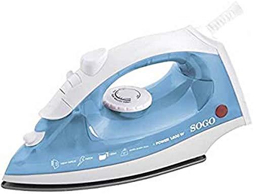 Sogo PLA-SS-6159 Plancha de vapor eléctrica, 1600 W, 0.14 litros, Otro, Blanco y azul