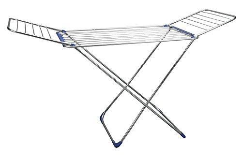 Metaltex Gomera - Tendedero con alas, acero inoxidable, 18 m