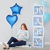 Baby Shower Decorations Balloon Box, Transparent Balloon Decorations Boxes for Baby First Birthday Party Decorations, Birthday Party Decorations, Home Decor, Baby Boy Girl Favors (Blue)