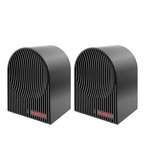 Small Space Heater 2 Pack 500W Personal Mini Ceramic Heater Energy Efficient Space Saving Portable Electric Heater with Thermostat Quiet for Indoor Use Office Desk Bedroom ETL Approved, 2020 Upgrade