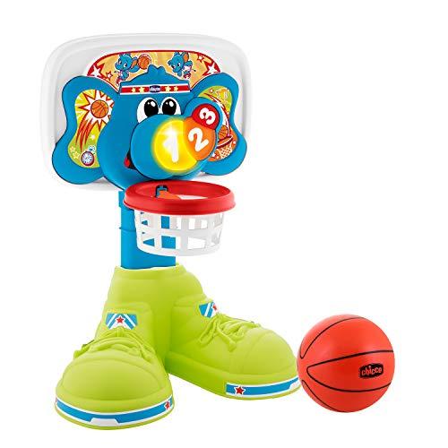 Chicco Canasta de Baloncesto Electrónica Para Niños con Efectos de Luz y Sonido, Altura Ajustable, Pelota Incluida – Juguete Basket 123 Interactivo Para Niños de 18 Meses a 5 Años
