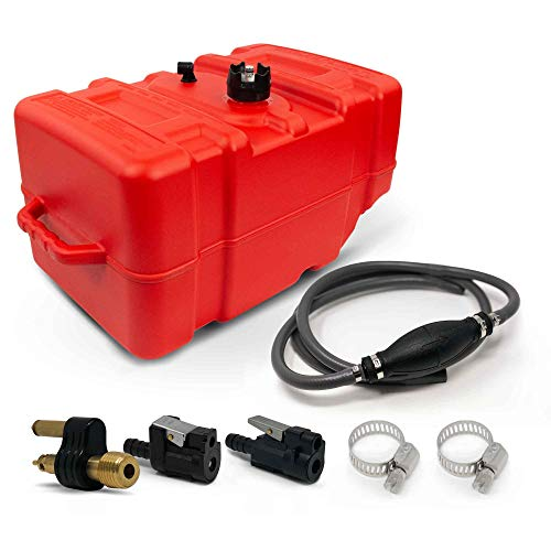 Five Oceans 12 Gallon Fuel Tank/Portable Kit for All Yamaha and Mercury Engines Connection, 3/8IN Hose FO-4269-C4