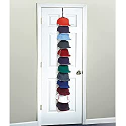 professional Perfect Curve Cap Rack System 36 – Organizer for Baseball Caps (12 Clips for Up to 36 Baseball Caps, Black)