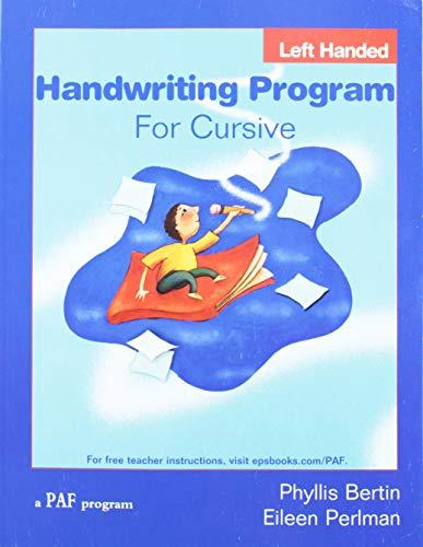 Handwriting Program for Cursive Left Hand (Preventing Academic Failure)
