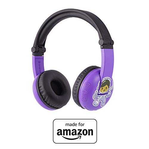 BuddyPhones PlayTime - Nuove cuffie Bluetooth Made for Amazon, per bambini da 3 a 7 anni, viola
