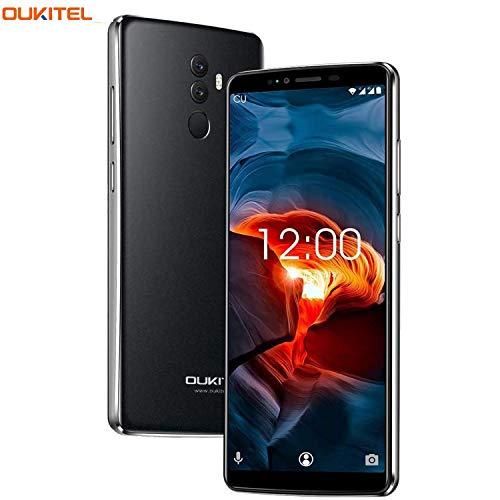 Smartphone Ohne Vertrag,OUKITEL K8 Günstig Handy, Android 4G Dual SIM Smartphone,6 Zoll Display,5000mAh Akku, Octa Core 4GB RAM 64GB ROM,13MP+5MP Dual Kameras, Face ID-Grau