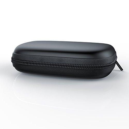 CSL - Kopfhörer Schutztasche - inEar Schutztasche inkl. Netztasche im Inneren - formstabile Nylontasche - weiches Stoffinnenfutter - schwarz
