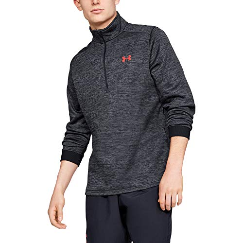 Under Armour Herren Oberteil FLEECE 1/2 ZIP, Schwarz, LG, 1320745-001