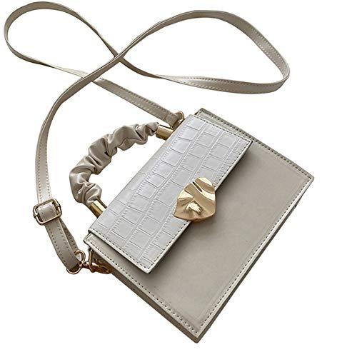 LPOQW Womens Handbag Portable Small Square Bag Shoulder Multifunctional Wallet Saddle Casual Travel Cross Body Bags,White