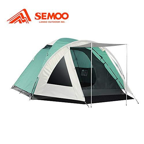 Semoo Kuppelzelt für 3-4 Personen 3-Jahreszeiten, Familien Campingzelt Wasserdichtes Igluzelt Doppelschicht mit Vorraum