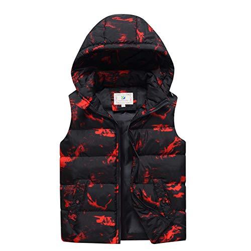 Wintervest voor kinderen, opstaande kraag, licht, zonder mouwen, vest, gevoerd, met ritszakken, voor jongens en meisjes