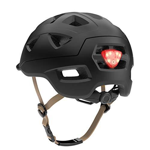Bike Helmet Yuan Ou Road Mountain Bike Helmet Man Ultralight MTB Cycling Helmet With LED Taillight Sport Safe Gear Cycling Helmet L(58-61CM) Black