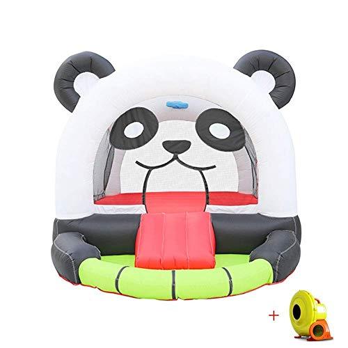 Niño Panda Bouncy Castle Inflatable Niños Inflatable Trampoline Actividad Play Center Casa al aire libre Jersey Slide Slide Slide Combogarden for con los juguetes del soplador de aire eléctrico xuwuhz