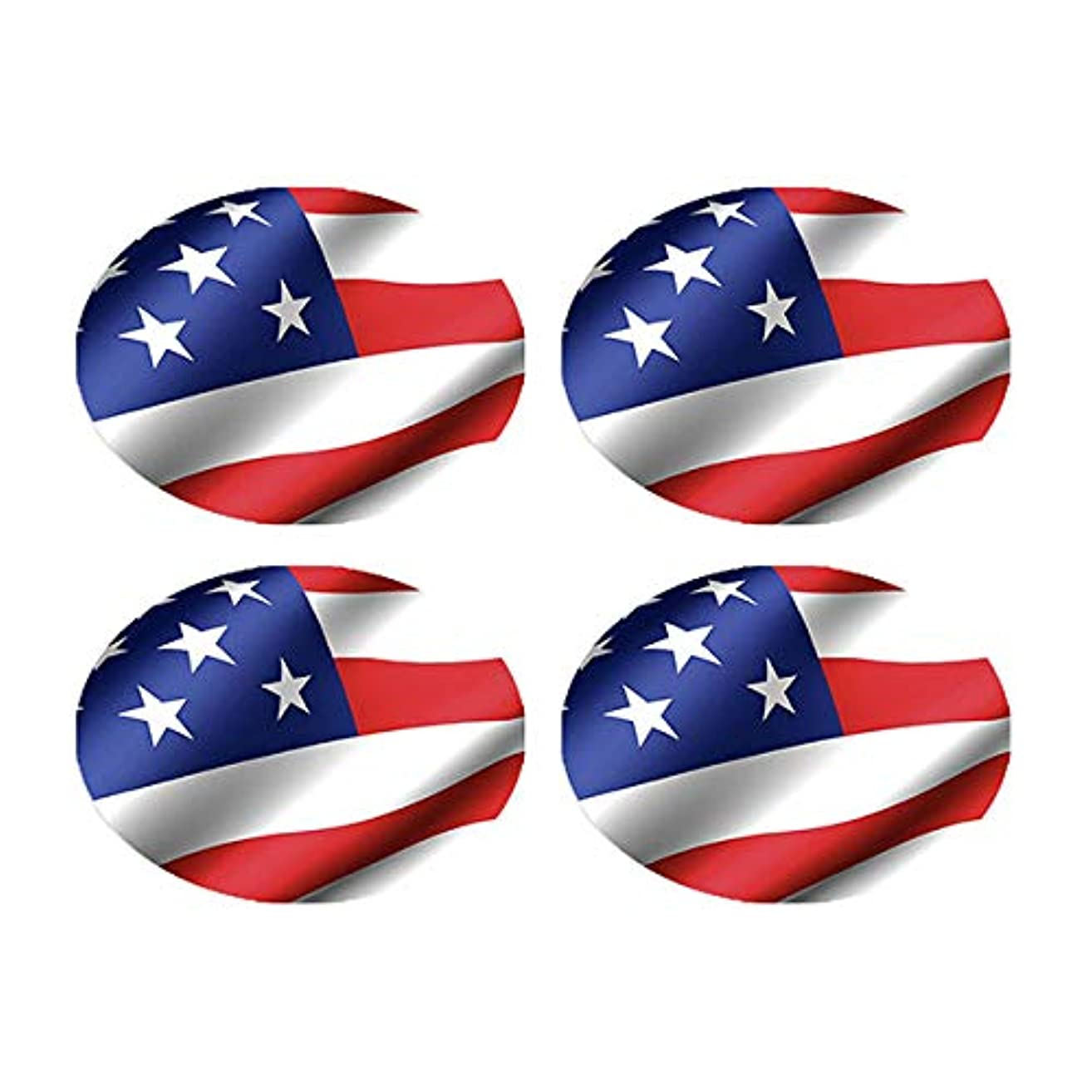 BibBoards SNAP & Lock for Event/Race Bibs Pinless Race/Event Bib Number Fasteners (Safety Pin Replacement) (USA Flag)