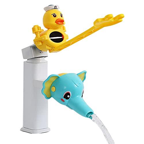 likeitwell Extensor de Grifo de baño de 2 Piezas, para niños, niños, Dispositivo de Lavado a Mano, extensión, manija del Grifo, Fregadero, extensión de Agua para el baño, Extensor para niños positive