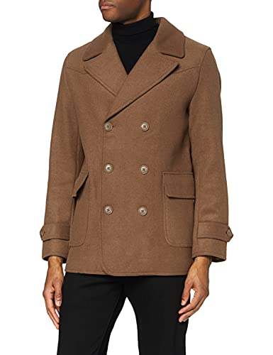 Marchio Amazon - find. Giaccone in Lana Uomo, Brown (Camel), S, Label: S