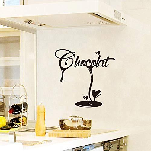 Latte chocolate fudge vinyl wall decal wallpaper mural wall art cocina decoración decoración del hogar decoración de la casa decal42x42cm