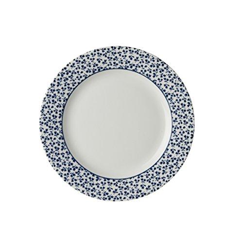 Laura Ashley - Platos, platos de postre – Blueprint Floris – 18 cm de diámetro.