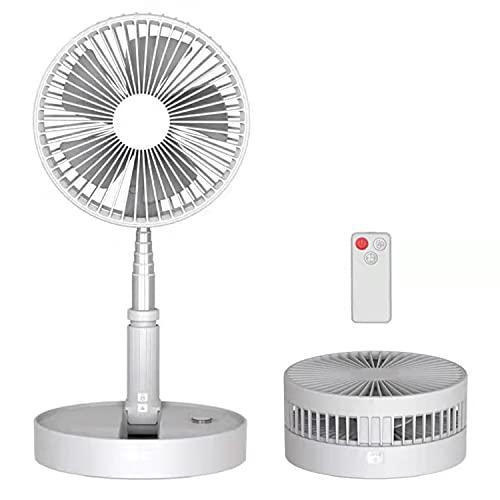 Ventilador de pie y mesa,3niveles de ventilación,incluye un control remoto.Fácil de limpieza,altura regulable aprox.1m.Tiempo de uso de hasta 20.50hs,incluyendo una capacidad de batería de 7200mAh.