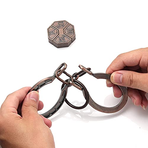 2 Pieces Metal Puzzle Brain Teaser Puzzles 3D Assembly & Disentanglement Toys for Kids & Adults