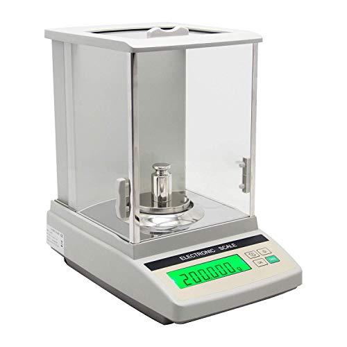Chutd Analytische laboratoriumweegschaal, 320 g/0,001 g, hoge precisie, digitale weegschaal, voor farmaceutische producten, sieraden, fabrieken, chemicaliën, school, 1 mg, met handmatige kalibratie