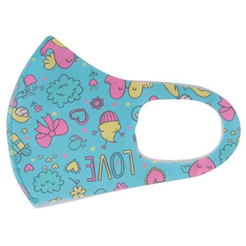 QIUMINGSS 5pcs für Kinder Waschbare für Frauen und Männer 3-lagig Dünn Smiley Formbarer Nasenbügel aus Aluminium Weiches G