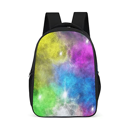 Hinfunees Mochila misteriosa mágica con diseño de nube estrellada mágica para libros, bonita mochila infantil para adolescentes, para exteriores, gris brillante., talla única